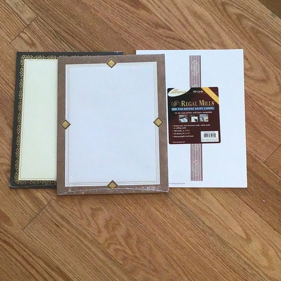 ✨3/$10 Recycled paper 2 packs & 100 Pinter cards